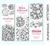 italian food vintage design...   Shutterstock .eps vector #497576854