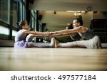 ballet dancer training school... | Shutterstock . vector #497577184