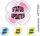 status updates | Shutterstock . vector #49757830