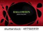 halloween. a bright poster on...   Shutterstock .eps vector #497585959