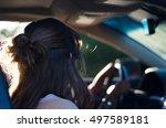 woman in car | Shutterstock . vector #497589181
