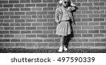 fashionista girl child adorable ...   Shutterstock . vector #497590339