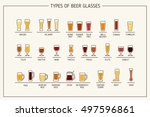 beer glass types. beer glasses  ... | Shutterstock .eps vector #497596861