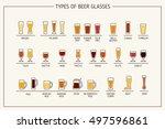 beer glass types. beer glasses  ... | Shutterstock .eps vector #497596861