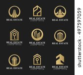 real estate icon set. real... | Shutterstock .eps vector #497597059