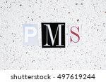 pms  premenstrual syndrome ...   Shutterstock . vector #497619244