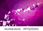 abstract low poly background ... | Shutterstock . vector #497620201