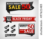 collection of black friday web... | Shutterstock .eps vector #497621485