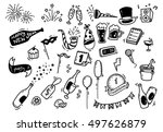 set of new year doodle | Shutterstock .eps vector #497626879
