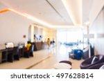 abstract blur hotel lobby... | Shutterstock . vector #497628814