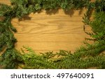 christmas background with... | Shutterstock . vector #497640091