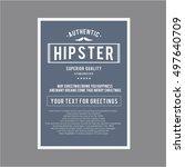 vintage hipster layout tamplate ... | Shutterstock .eps vector #497640709