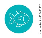 circle shape with fish animal | Shutterstock .eps vector #497641195
