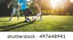 soccer football field father... | Shutterstock . vector #497648941