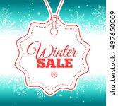 winter sale poster. vector... | Shutterstock .eps vector #497650009