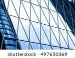 windows of business building in ... | Shutterstock . vector #497650369