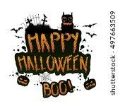vector whimsical  grungy ... | Shutterstock .eps vector #497663509