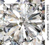 realistic diamond with caustic... | Shutterstock . vector #497675995