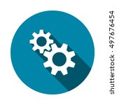 gear icon vector | Shutterstock .eps vector #497676454