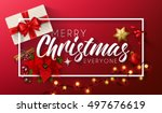 merry christmas everyone ... | Shutterstock .eps vector #497676619