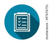 checklist icon vector | Shutterstock .eps vector #497676751