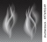 delicate white cigarette or...   Shutterstock . vector #497690149