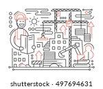 construction site   vector... | Shutterstock .eps vector #497694631