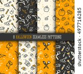 8 Halloween Seamless Pattern...