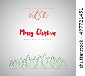 merry christmas minimalistic... | Shutterstock .eps vector #497721451
