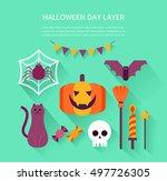halloween illustration   Shutterstock .eps vector #497726305