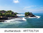 temple on the rock by the ocean ... | Shutterstock . vector #497731714