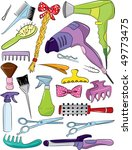 set of hairdresser accessories | Shutterstock .eps vector #49773475