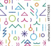 seamless new year's pattern... | Shutterstock .eps vector #497742085