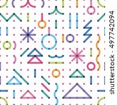seamless new year's pattern... | Shutterstock .eps vector #497742094
