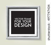 wooden picture frame. vector... | Shutterstock .eps vector #497747434