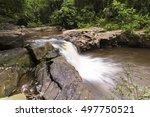saphanhin waterfall thailand. | Shutterstock . vector #497750521