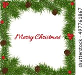 greeting card mery christmas... | Shutterstock .eps vector #497761867