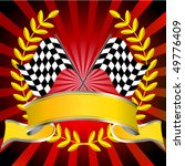 racing flags in red with wreath ...   Shutterstock .eps vector #49776409