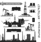 set of oil and gas industry... | Shutterstock . vector #497767927