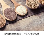 super food products toned photo | Shutterstock . vector #497769925