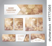 merry christmas banner  flyers  ... | Shutterstock .eps vector #497771005