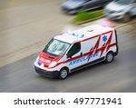 Ambulance Van With Flashing...