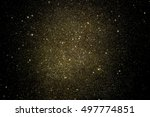gold glitter on black...   Shutterstock . vector #497774851