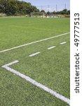 green grass and sport lines... | Shutterstock . vector #49777513