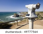 coin operated telescope in a... | Shutterstock . vector #49777564