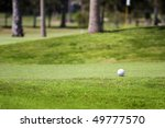 golf ball on tee in a beautiful ... | Shutterstock . vector #49777570
