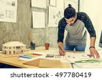 design studio architect... | Shutterstock . vector #497780419