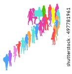 many people isolated  | Shutterstock .eps vector #497781961