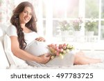 Happy Smiling Pregnant Woman