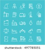 set vector line icons with open ... | Shutterstock .eps vector #497785051